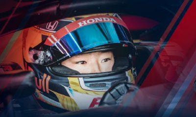 Yuki Tsunoda w bolidzie Formuły 2