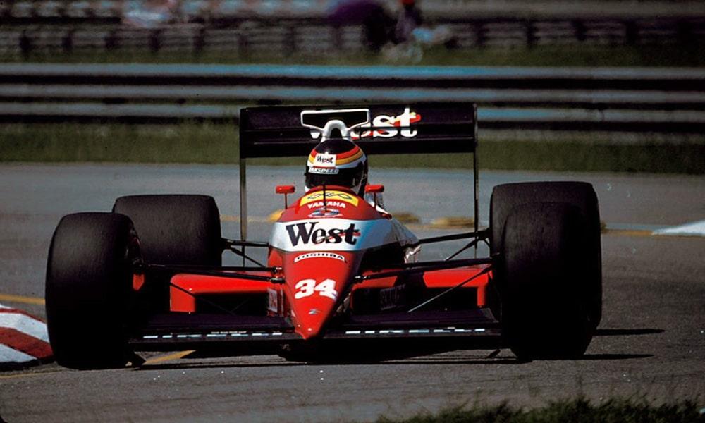 Debiut Yamahy w F1 Bernd Schneider Zakspeed 1989 GP Brazylii