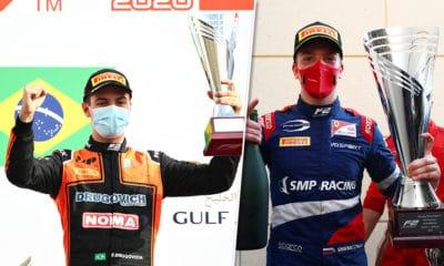 Felipe Drugovich i Robert Shwartzman po zwycięstwach GP Bahrajnu 2020