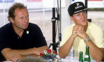 Jochen Mass i Michael Schumacher lata 90