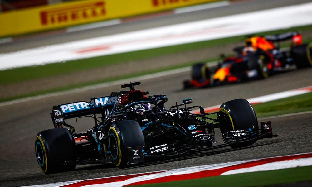 Mercedes Lewis Hamilton triumf GP Bahrajnu 2020 F1