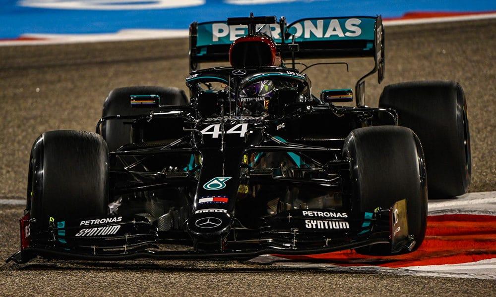Mercedes Hamilton II trening GP Bahrajnu 2020