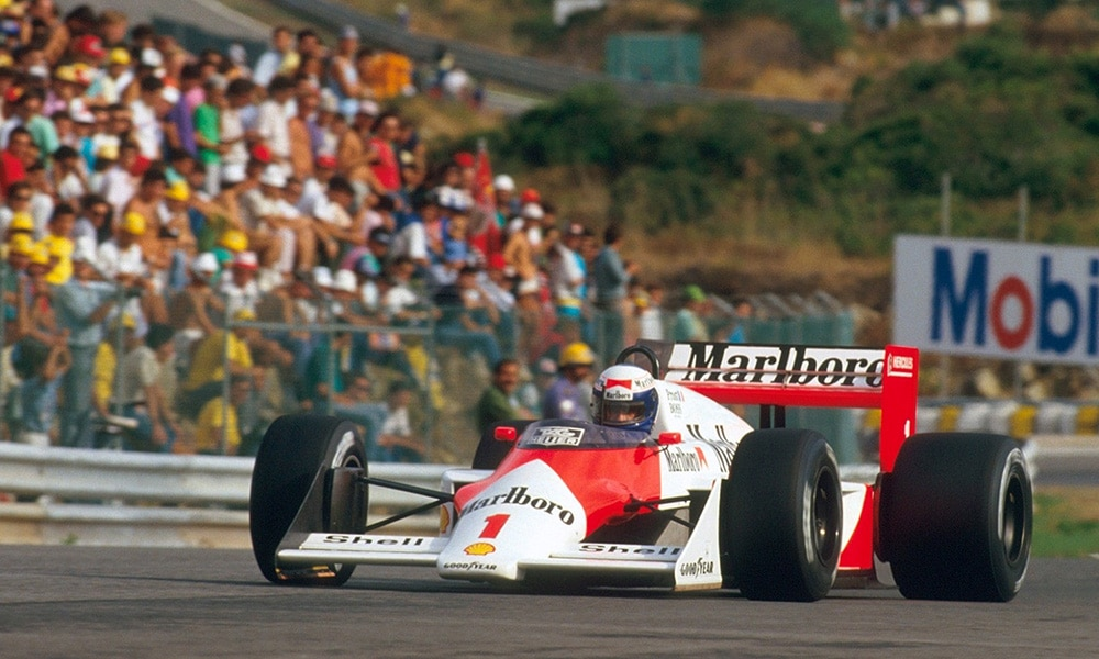 Ostatnie zwycięstwo McLaren TAG-Porsche 1987 Prost GP Portugalii