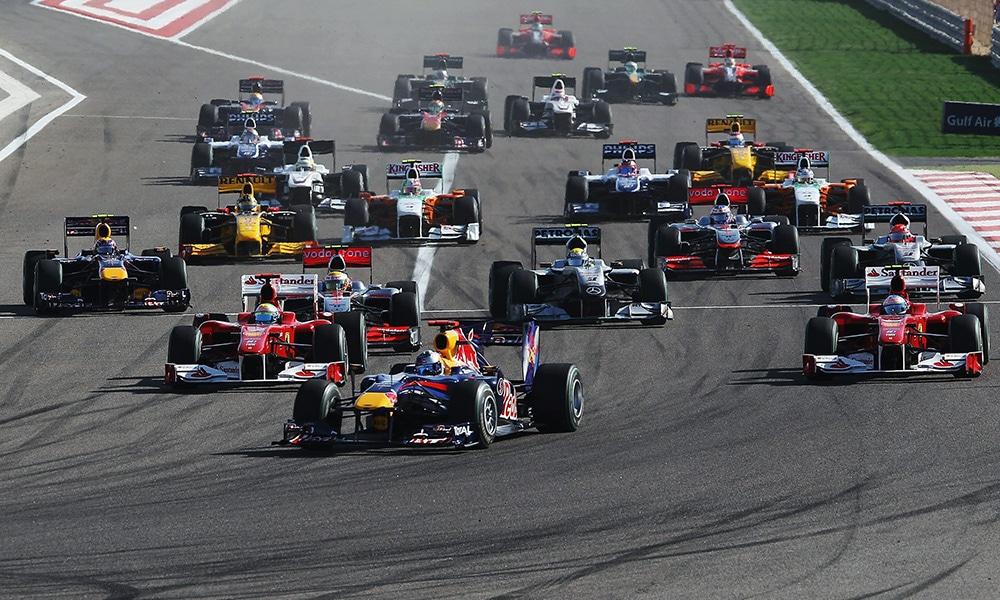 Red Bull Vettel Grand Prix Bahrajnu 2010 start wyścigu