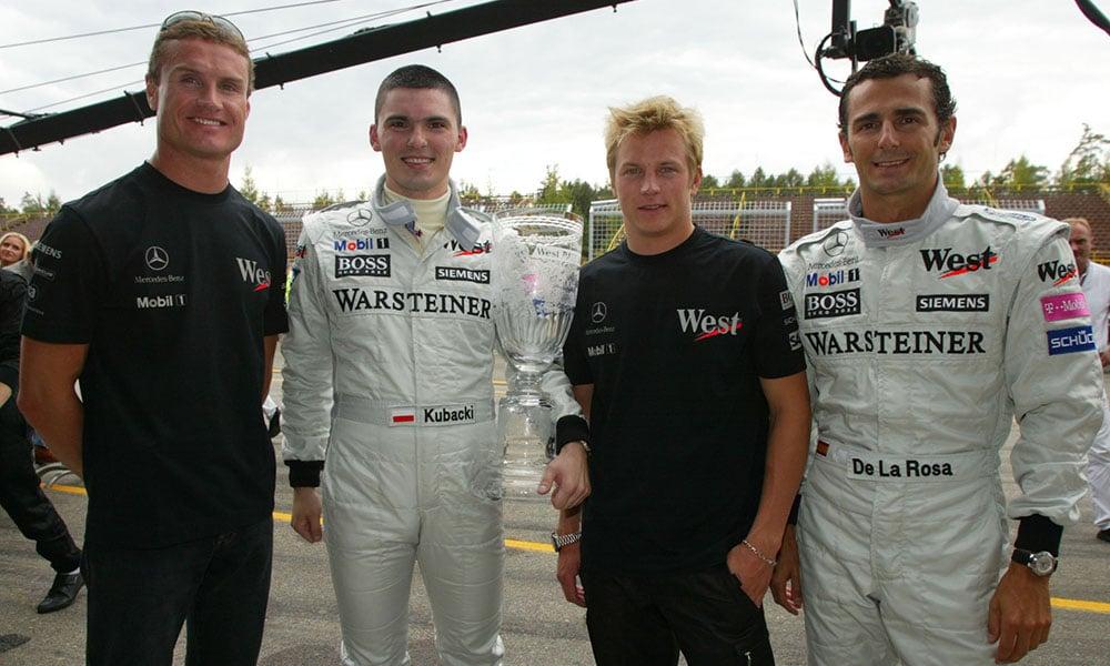 Coulthard, Raikkonen, de la Rosa, Kubacki WRD 03 Brno