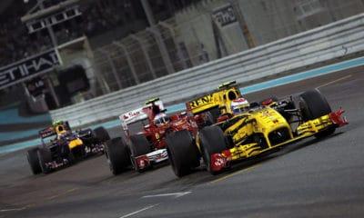 GP Abu Zabi 2010 Pietrow przed Alonso i Webberem