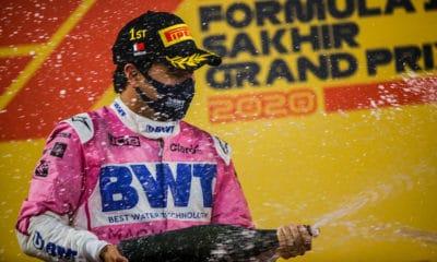 Sergio Perez Racing Point GP Sakhiru 2020 zwycięstwo F1