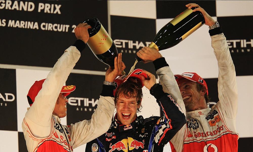 podium GP Abu Zbai 2010