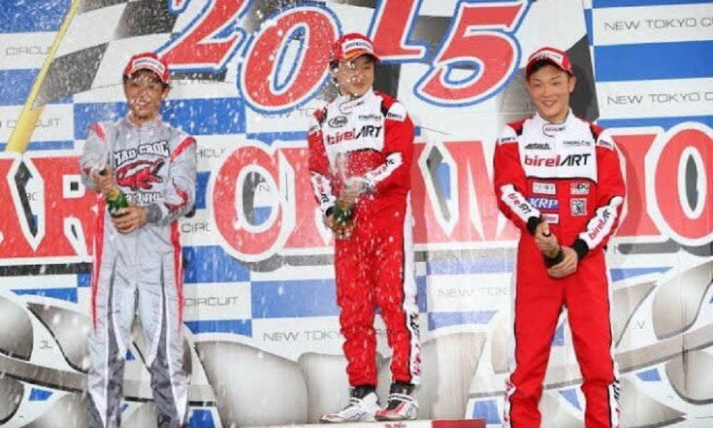 Yuki Tsunoda podium 2015