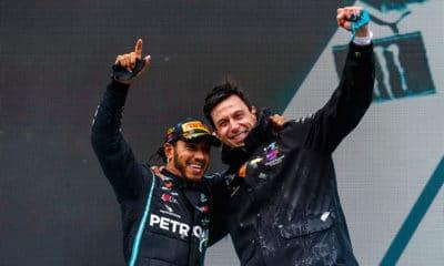 Hamilton i Wolff GP Turcji 2020 Mercedes