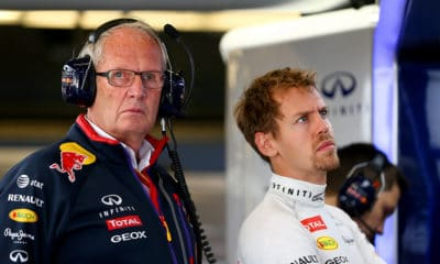 Marko i Vettel w Red Bullu 2014