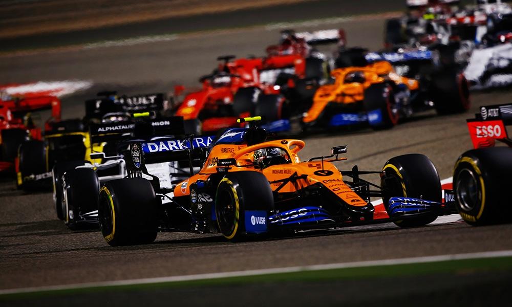 McLaren przed AlphaTauri 2020 GP Sakhiru