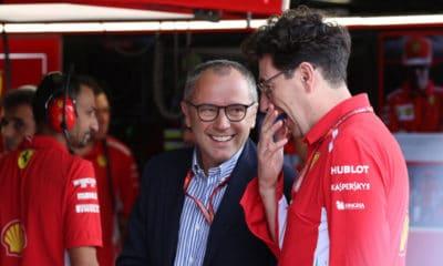 Stefano Domenicali 2020 garaż Ferrari F1