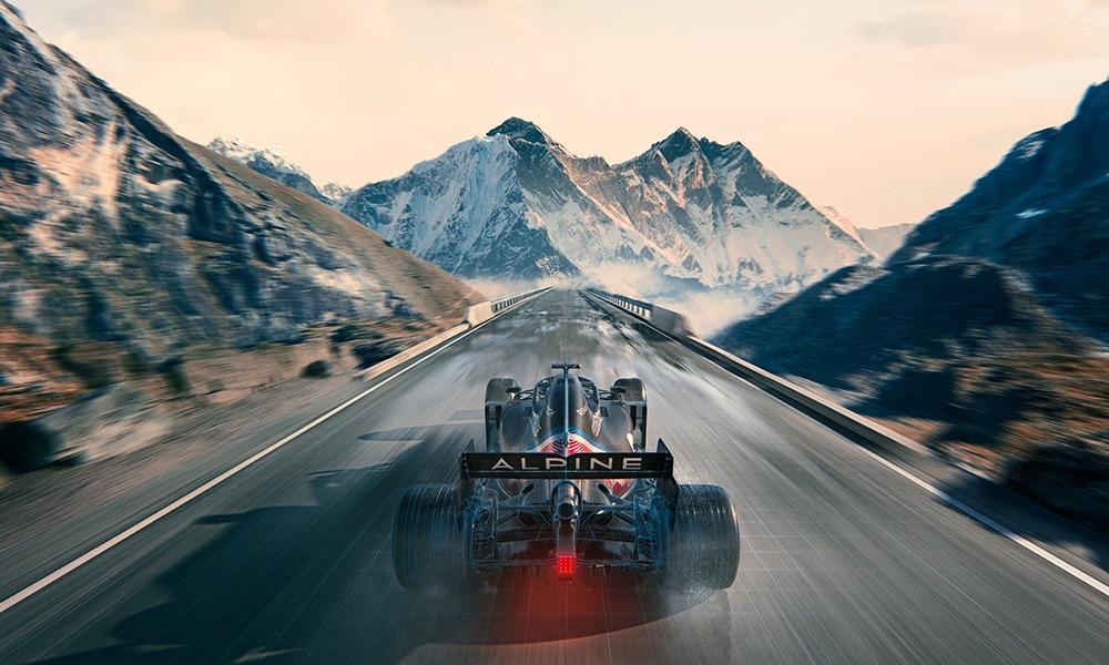 tył bolidu Alpine F1