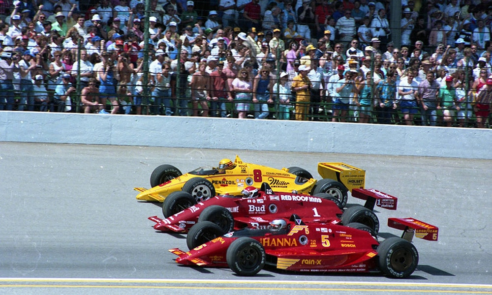 1987 Indianapolis 500, Mario Andretti, Bobby Rahal & Rick Mears. - Andrew
