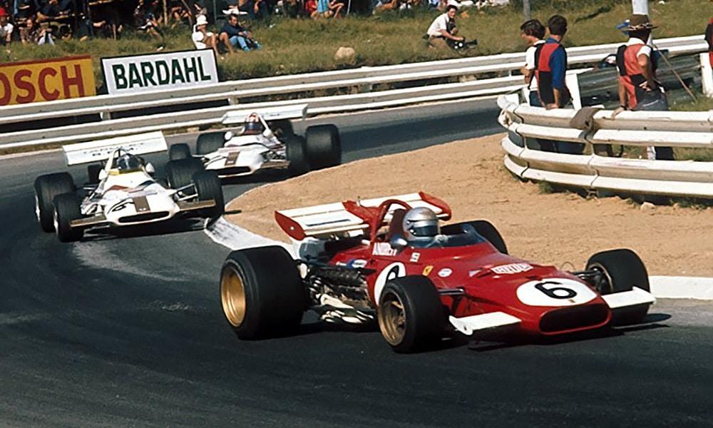 Mario Andretti Ferrari 312B Kyalami F1 1971