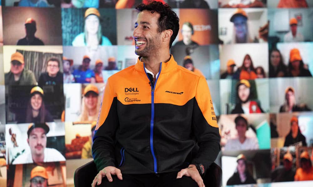 Daniel Ricciardo 2021 MCL35M Launch