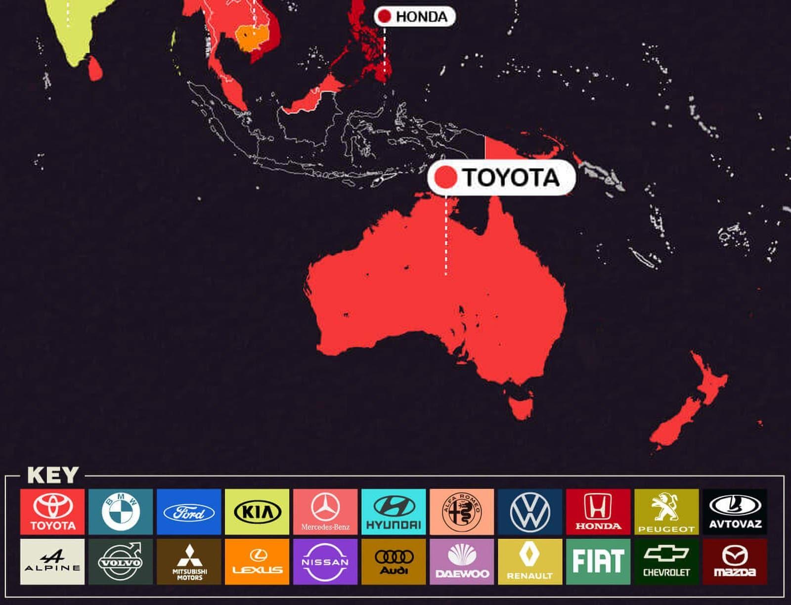 najczęściej poszukiwane samochody australia