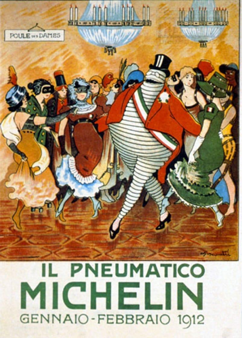 reklama ludzik michelin 1912