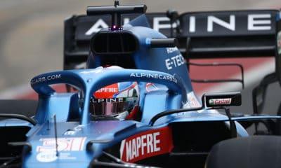 Esteban Ocon shakedown Silvertsone 2021 Alpine Renault