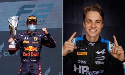 Liam Lawson i Oscar Piastri GP Bahrajnu 2021 F2 Sprinty