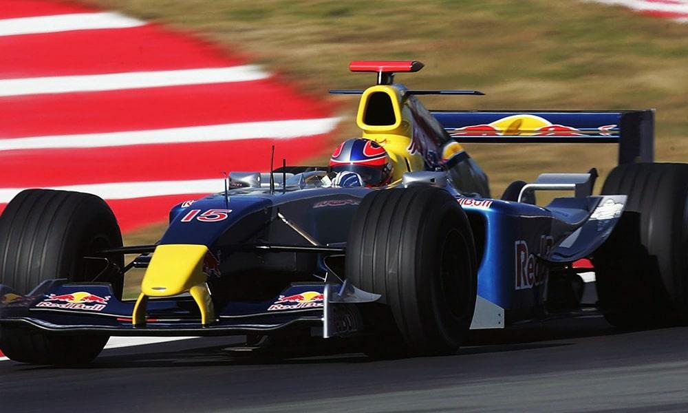 Red Bull Racing 2004 pierwszy test F1 Barcelona F1