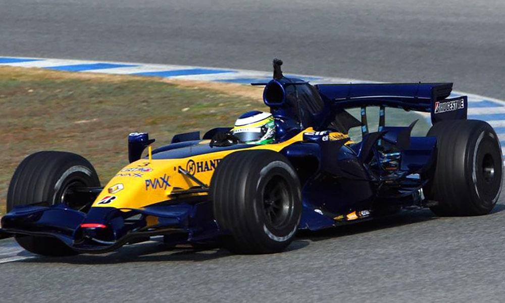 Renault R27 2007 F1 malowania bolidów f1 testy