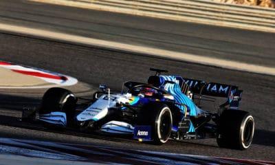Russell Williams testy Bahrajn 2021 f1