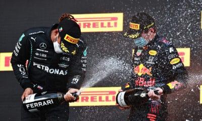 Hamilton verstappen Imola 2021 f1 mercedes vs red bull
