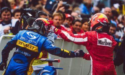 Fernando Alonso i Michael Schumacher - San Marino 2005