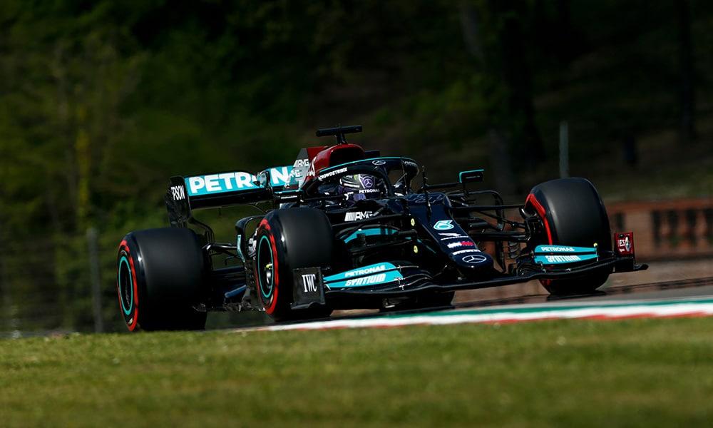 Lewis Hamilton 99 PP Imola 2021 Mercedes F1