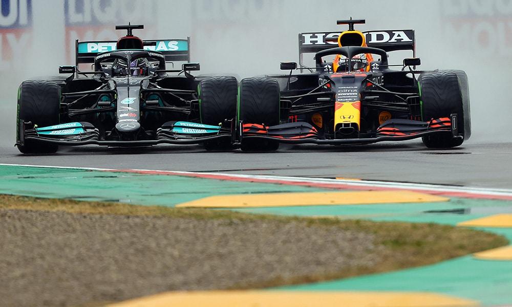 Mercedes i Red Bull walka f1 2021 Imola f1 w viaplay
