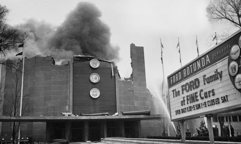 ford rotunda pożar 1962