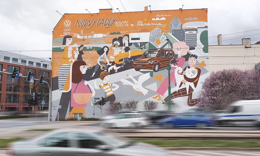 mural vw caddy poznań