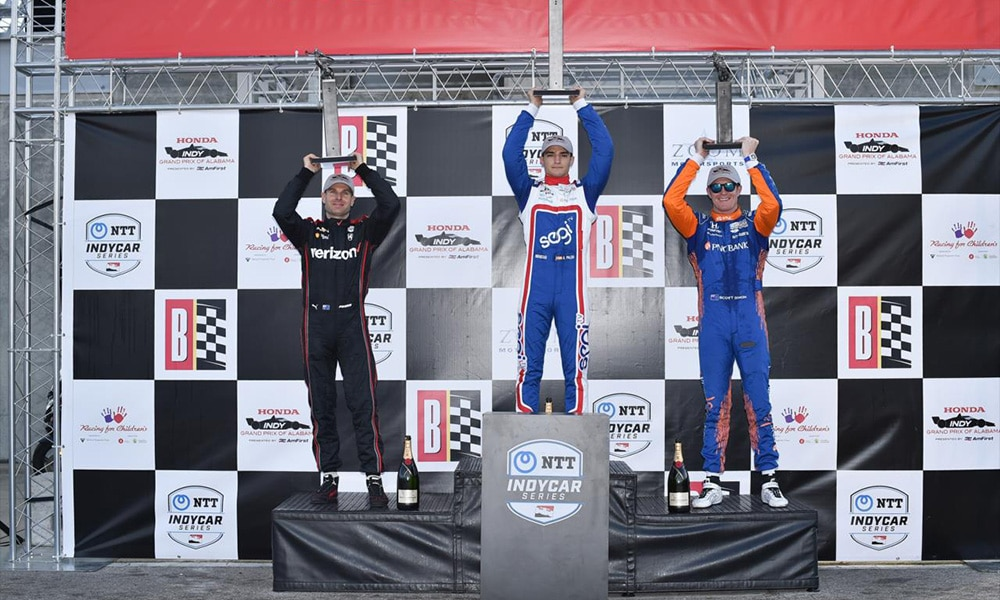 podium Grand Prix Alabamy 2021 IndyCar