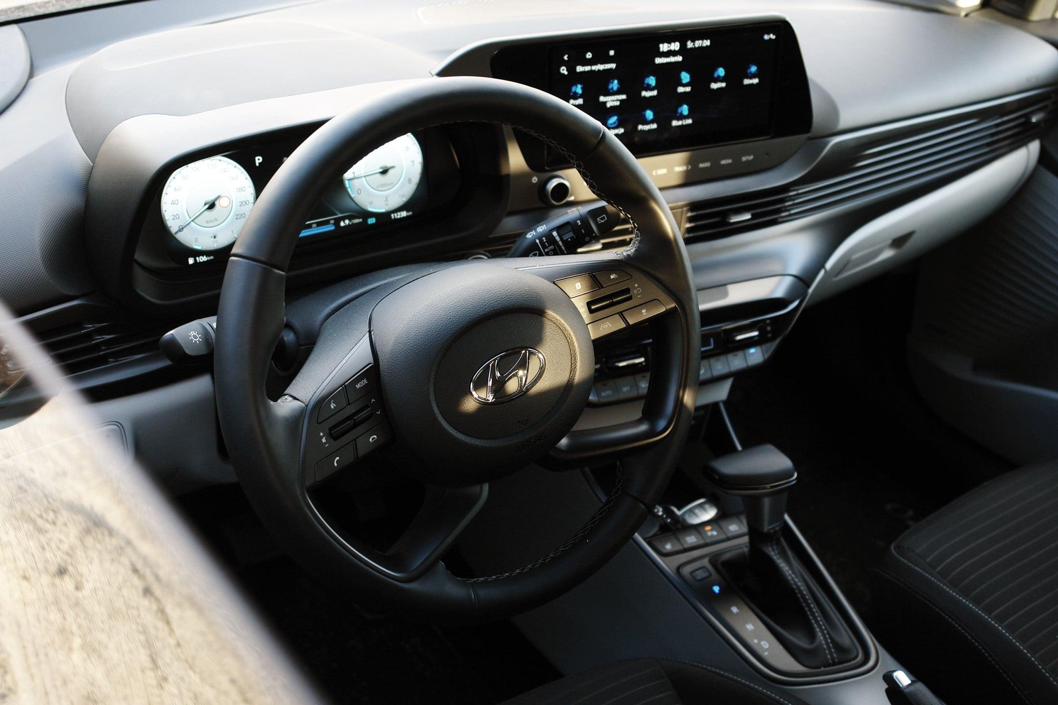 wnętrze Hyundai i20 2021