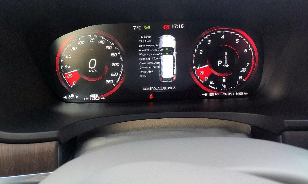 Volvo V90 systemy bezpieczeństwa