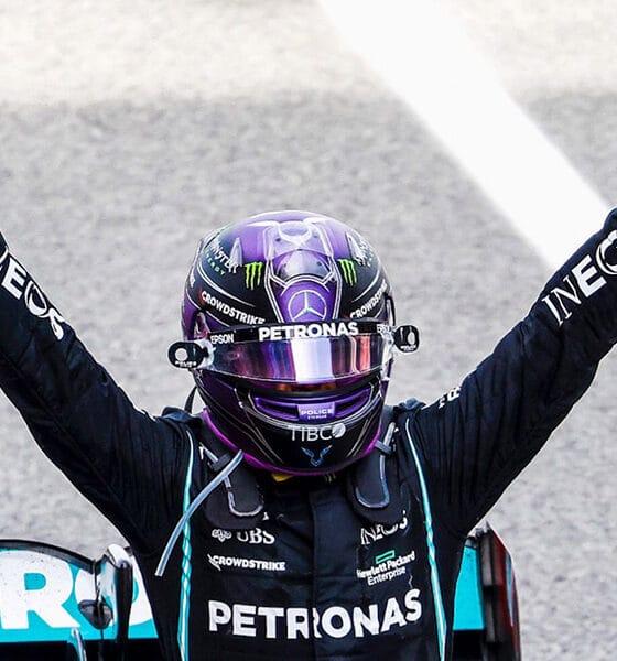 Lewis Hamilton 98 triumf 2021 gp hiszpanii f1