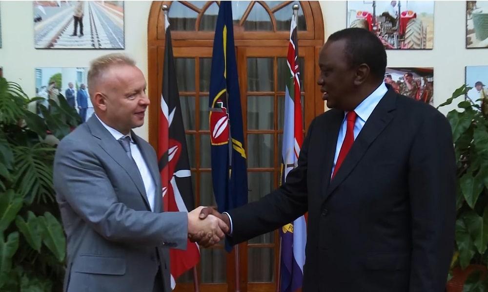 Dmitrij Mazepin i Prezydent Zimbabwe