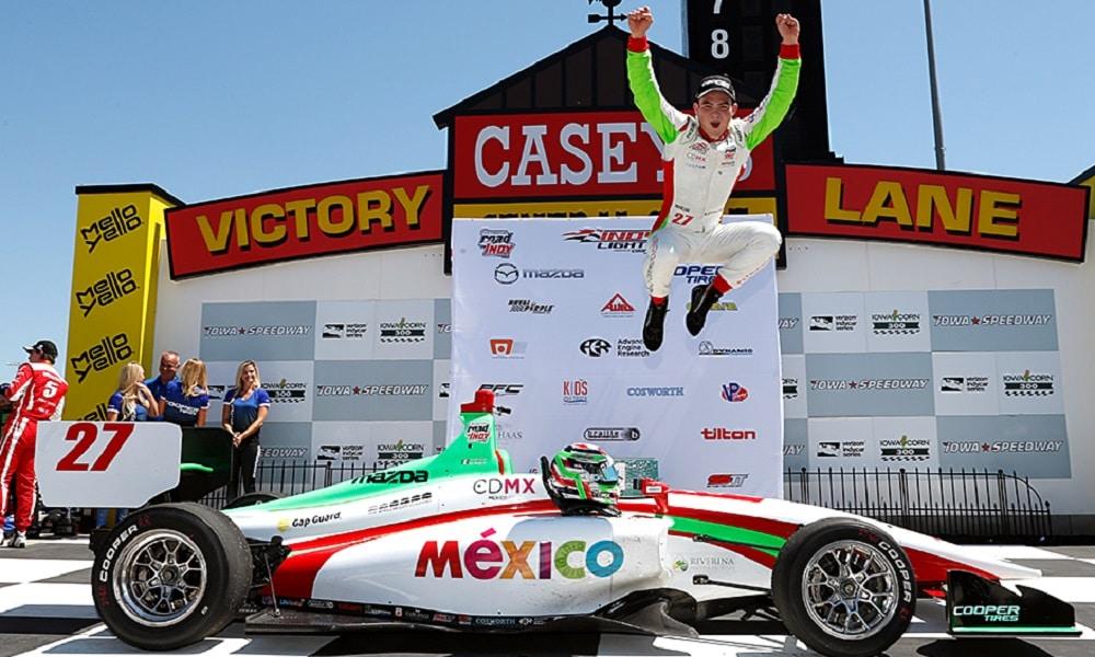 Patricio O'Ward po zostaniu mistrzem serii Indy Lights