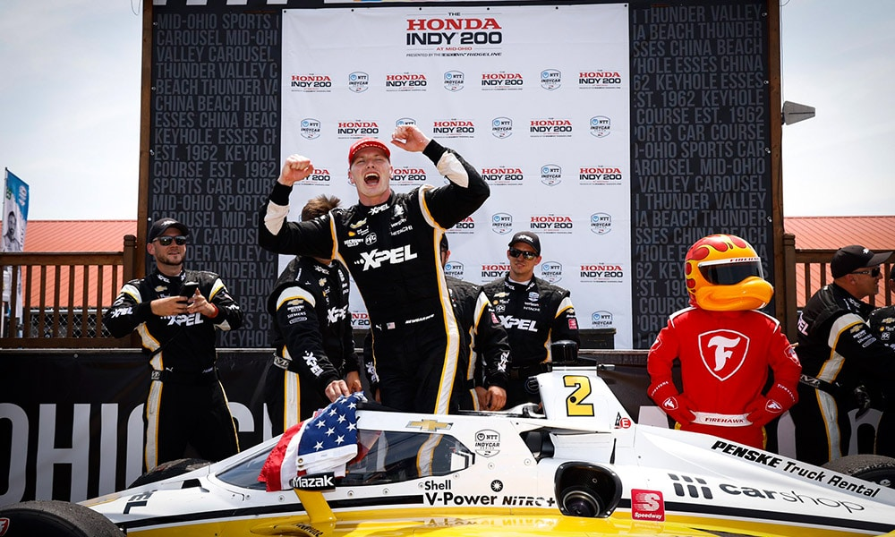 Team Penske Josef Newgarden Mid Ohio 2021 IndyCar