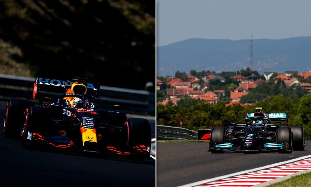 Verstappen i Bottas GP Węgier 2021 treningi f1