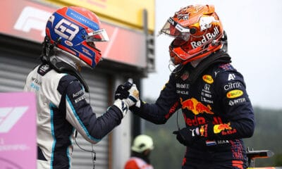 Russell i Verstappen Williams Red Bull F1 2021 GP Belgii kwalifikacje