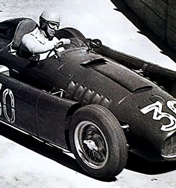 Lancia w F1 1955 GP Monako podium Castellotti